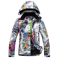 cheap Daily Deals-GQY® Women's Ski Jacket Waterproof Thermal / Warm Windproof Ski / Snowboard Winter Sports Polyester Winter Jacket Ski Wear