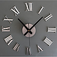 cheap Wall Clocks-Modern/Contemporary Retro Acrylic Glass Metal Round Novelty Indoor/Outdoor,AA Wall Clock