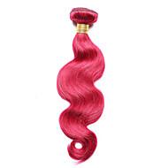 Emberi haj Indiai haj Precolored Hair sző Hullámos haj Póthajak 1 darab Burgundi vörös