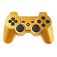 hesapli -PlayStation 3 PS3 İçin Kablosuz Çift Titreşimli Oyun Kolu (Altın)