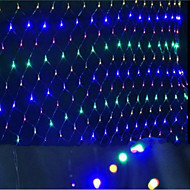 ledet garn lyser Julelys vanntett fargelegges 1,5 * 1,5 m96 lampeholder