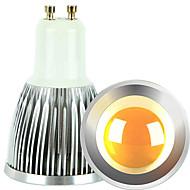billige Spotlys med LED-2pcs 5 W 2700-3000/6000-6500 lm GU10 LED-spotpærer 1 LED perler COB Mulighet for demping Varm hvit / Kjølig hvit 220-240 V / 110-130 V / 2 stk. / RoHs
