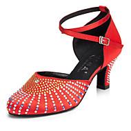 billige Moderne sko-Dame Moderne Silke Høye hæler Innendørs Høy Hæl Svart Rød Naken Kan spesialtilpasses