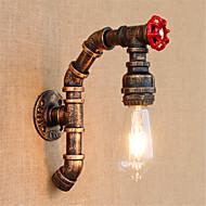 tanie Kinkiety Ścienne-Wiejski Lampy ścienne Na Metal Światło ścienne 110-120V 220-240V 40W