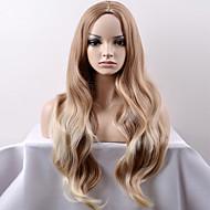 女性 人工毛ウィッグ キャップレス ロング丈 非常に長いです ルーズウェーブ ベージュ ナチュラルウィッグ ハロウィンウィッグ カーニバルウィッグ コスチュームウィッグ