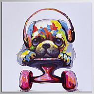 billiga POP Art-Hang målad oljemålning HANDMÅLAD - Popkonst Klassisk / Moderna Inkludera innerram / Sträckt kanfas