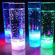 1pc 400ml 7 cores em mudança levou beber luz noite copo levou luz intermitente suco para KTV bar partido luzes sem chama copo