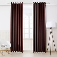 Twee panelen Window Behandeling Modern , Effen Slaapkamer Polyester Materiaal Curtains Drapes Huisdecoratie For Venster