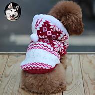 Katt / Hund Kappor / Huvtröjor Hundkläder Snöflinga Brun / Röd / Blå Cotton Kostym För husdjur Herr / Dam Håller värmen / Mode