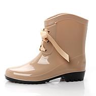 baratos Sapatos Femininos-Mulheres Sapatos Borracha Verão Conforto Botas Botas Curtas / Ankle Vermelho / Amêndoa / Castanho Claro