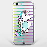 Case Kompatibilitás Apple iPhone X iPhone 8 Plus iPhone 7 iPhone 6 iPhone 5 tok Ultra-vékeny Átlátszó Minta Hátlap Egyszarvú Puha TPU mert