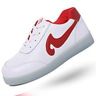 יוניסקס-נעלי ספורט-PU-נוחות נעליים לעריסה רצועת קרסול להאיר נעליים-שחור אדום-יומיומי ספורט-עקב שטוח