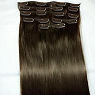 8pcs / set 24 Nº 2 Remy tipo extensão do cabelo humano extensões de cabelo humano extensões de cabelo
