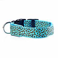 Hund Krave LED Lys Justérbar / Udtrækkelig Genopladelig Elektronisk/Elektrisk Leopard Nylon Lilla Gul Rød Grøn Blå