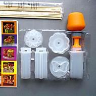 DIY εργαλεία kithen 6 σε 1 λουλούδι / καρδιά / κύκλο / αστέρων / ήλιο / πεταλούδα φρούτα μούχλα κέικ