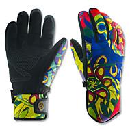 ieftine Mănuși-Mănuși Ski Bărbați Pentru femei Deget Întreg Keep Warm Impermeabil Uscare rapidă Rezistent la Vânt Snowproof Anti-derapare Imitaţie de