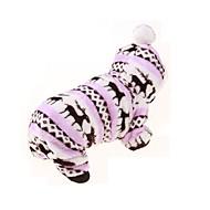 Cachorro Camisola com Capuz Macacão Roupas para Cães Mantenha Quente Esportes Floral / Botânico Café Rosa pérola Azul Rosa claro Leopardo