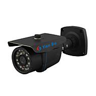 yanse® 1000tvl 3.6mm metall aluminium d / n CCTV kamera ir 24 ledet sikkerhet vanntett kablet 867cf