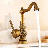 cheap Kitchen Faucets-Kitchen faucet - Traditional Antique Brass Standard Spout Centerset