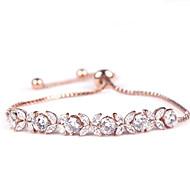 Dámské Řetězové & Ploché Náramky Křišťál Módní Pro nevěstu Zirkon Flower Shape Šperky Pro Svatební Denní