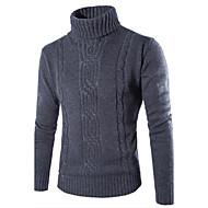 Muškarci Jednostavno Ležerno/za svaki dan Regularna Pullover,Siva Jednobojni Dolčevita Dugih rukava Pamuk Poliester Jesen Zima Srednje