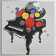 手描きの 抽象画 / 静物画 油彩画,Modern / クラシック 1枚 キャンバス ハング塗装油絵 For ホームデコレーション