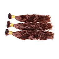 İnsan saç örgüleri Düz Brezilya Saçı Doğal Dalgalar 4 Parça saç örgüleri