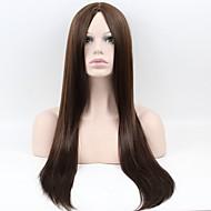 女性 人工毛ウィッグ キャップレス ロング丈 非常に長いです ストレート ベージュ ナチュラルウィッグ ハロウィンウィッグ カーニバルウィッグ コスチュームウィッグ