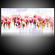 Hand-Painted Abstract Floral/Botanical Horizontal,Modern Pastoral One Panel Canvas Oil Painting For Home Decoration