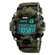 SKMEI Herre Sportsur Militærur Armbåndsur Digital LED Kalender Kronograf Vandafvisende alarm Selvlysende i mørke Stopur PU Bånd Sej