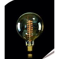 billige Glødelampe-1pc 25W E27 E26/E27 E26 G125 Varm hvit 2300 K Glødende Vintage Edison lyspære 220V 85-265V