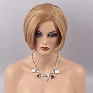 Naisten Aitohiusperuukit verkolla Aidot hiukset Lace Front Tiheys Suora Peruukki Medium Auburn Mansikka Blonde / Medium Auburn Medium