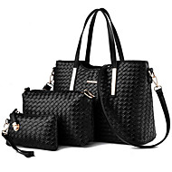 Women Bags All Seasons PU Shoulder Bag Metallic for Casual Black Silver Orange Red Blue