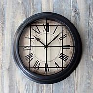 מודרני / עכשווי רטרו חופשה מעורר השראה משפחה סרט מצויר שעון קיר,עגול מצחיק אקרילי זכוכית מתכת 29 בבית/ בטבע שָׁעוֹן