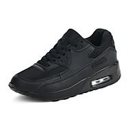 Dames Sneakers Lente Herfst Comfortabel PU Casual Platte hak Veters Zwart Groen Rood