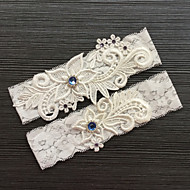 cheap Wedding Garters-Lace Classic Fashion Wedding Garter with Rhinestone Lace Garters