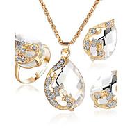 Feminino Cristal bijuterias 1 Colar 1 Par de Brincos Para Festa Casual Presentes de casamento
