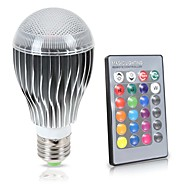cheap LED Bulbs-KWB 8W 850lm E26 / E27 LED Globe Bulbs A70 1 LED Beads COB Sensor Infrared Sensor Dimmable Waterproof Decorative Remote-Controlled RGB
