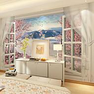 billige Tapet-Blomster Art Deco 3D Tapet til Hjemmet Moderne Tapetsering , Lerret Materiale selvklebende nødvendig Veggmaleri , Tapet