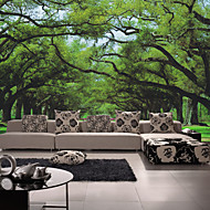 עצים/ עלים טפט עבור בית עכשווי וול כיסוי , קנבאס חוֹמֶר דבק נדרש צִיוּר קִיר , Wallcovering חדר