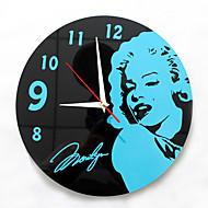 コンテンポラリー 伝統風 カジュアル オフィス 休暇 抽象風 家族 友達 漫画 壁時計,円形 ノベルティ柄 アクリル メタル 30 屋内/屋外 クロック
