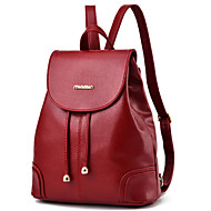Women Bags PU Backpack Rivet for Casual Outdoor All Seasons Blue Black Red