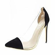 baratos Sapatos de Tamanho Pequeno-Mulheres Sapatos Sintético / Courino / Couro Ecológico Primavera / Verão Conforto / Inovador / Chanel Saltos Salto Agulha Dedo Apontado
