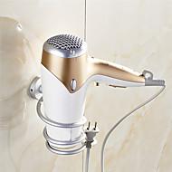 voordelige -1 stks aluminium badkamer wandplank wandmontage föhn rack opslag spiraal stand