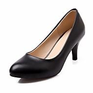 baratos Sapatos Femininos-Mulheres Sapatos Sintético / Courino / Couro Ecológico Primavera / Verão / Outono Conforto / Inovador / Chanel Saltos Caminhada Salto Agulha Dedo Apontado Poa Azul Escuro / Castanho Escuro / Vinho