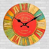 Tradicional Regional Retro Florais/Botânicos Personagens Música Relógio de parede,Redonda Interior/Exterior Relógio