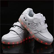 tanie Obuwie chłopięce-Dla chłopców Buty Syntetyczny Wiosna Jesień Świecące buty Tenisówki Haczyk i pętelka na Atletyczny Casual Na wolnym powietrzu White Black