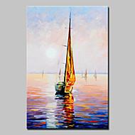 billiga Oljemålningar-Hang målad oljemålning HANDMÅLAD - Landskap Europeisk Stil Moderna Duk
