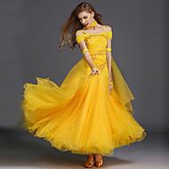 Balo Dansı Elbiseler Kadın's Eğitim Spandeks Tül Kolsuz