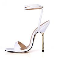 Women's Sandals Summer Ankle Strap PU Party & Evening Dress Stiletto Heel Blue White Gold Burgundy